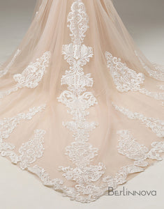 Mermaid Embroidered Lace Wedding Dress