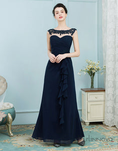 A-Line Chiffon Long Mother of The Bride Dresses