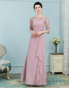 Chiffon Mother of The Bride Dresses with Beading Ruffle