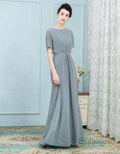 Short Sleeve Elegant Mother of The Bride Dresses
