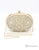 Gold Closure Beaded Clutch Bag