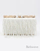 Graceful Champagne Beaded Fringe Clutch Bag