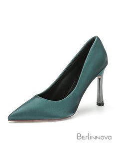 Black Pointy Toe Stiletto Heel Pumps