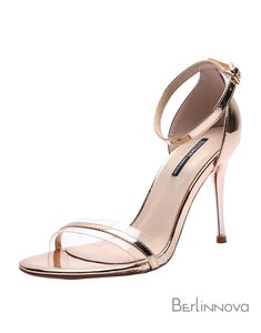 Stiletto Heel 8cm Heel PU Peep Toe Dress Shoes