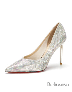 Women's Beaded Silver/Gold Prom Dance Shoes