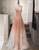 Unique Pink Tulle Long Prom Dress Tulle Evening Dress