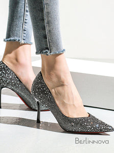 Women's Heel Sequins Prom Shoes