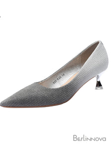 High Heel Sparkling Pointed Toe Dress Shoes
