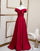A-Line Red Off-the -Shoulder Prom Dress