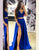Royal Blue Two Pieces Prom Dress Evening Dress