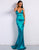 Glitter Blue Mermaid Formal Dress Long Prom Dress