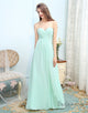 Sweetheart Light Green Chiffon Long Wedding Party Dress