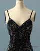 Simple Sequin Spaghetti Straps Short Homecoming Dress