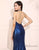 Sequin Mermaid Prom Dress Halter Long Evening Dress