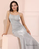 Sequin Mermaid Prom Dress Spaghetti Straps Long Evening Dress