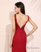 Mermaid Beading Red Prom Dress Side Split Long Evening Dress