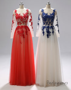 A-line Gorgeous Prom Dress Long Evening Dress With Applique