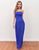 Royal Blue Backless Long Lace Prom Dress