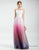 Ombre Pink Tulle Long Beach Wedding Dresses