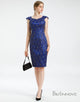 Sheath Round Neck Royal Blue Petite Mother of The Bride Dresses