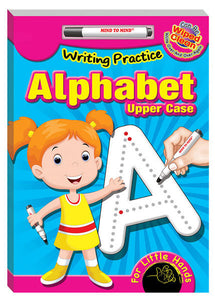 Writing practice upper case alphabet
