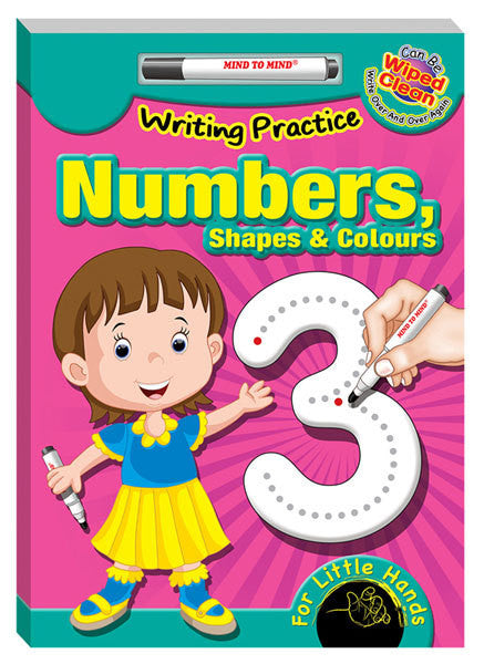 Writing practice numbers
