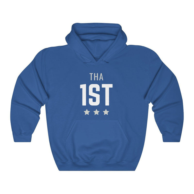 Tha 1st Hooded Sweatshirt Printify