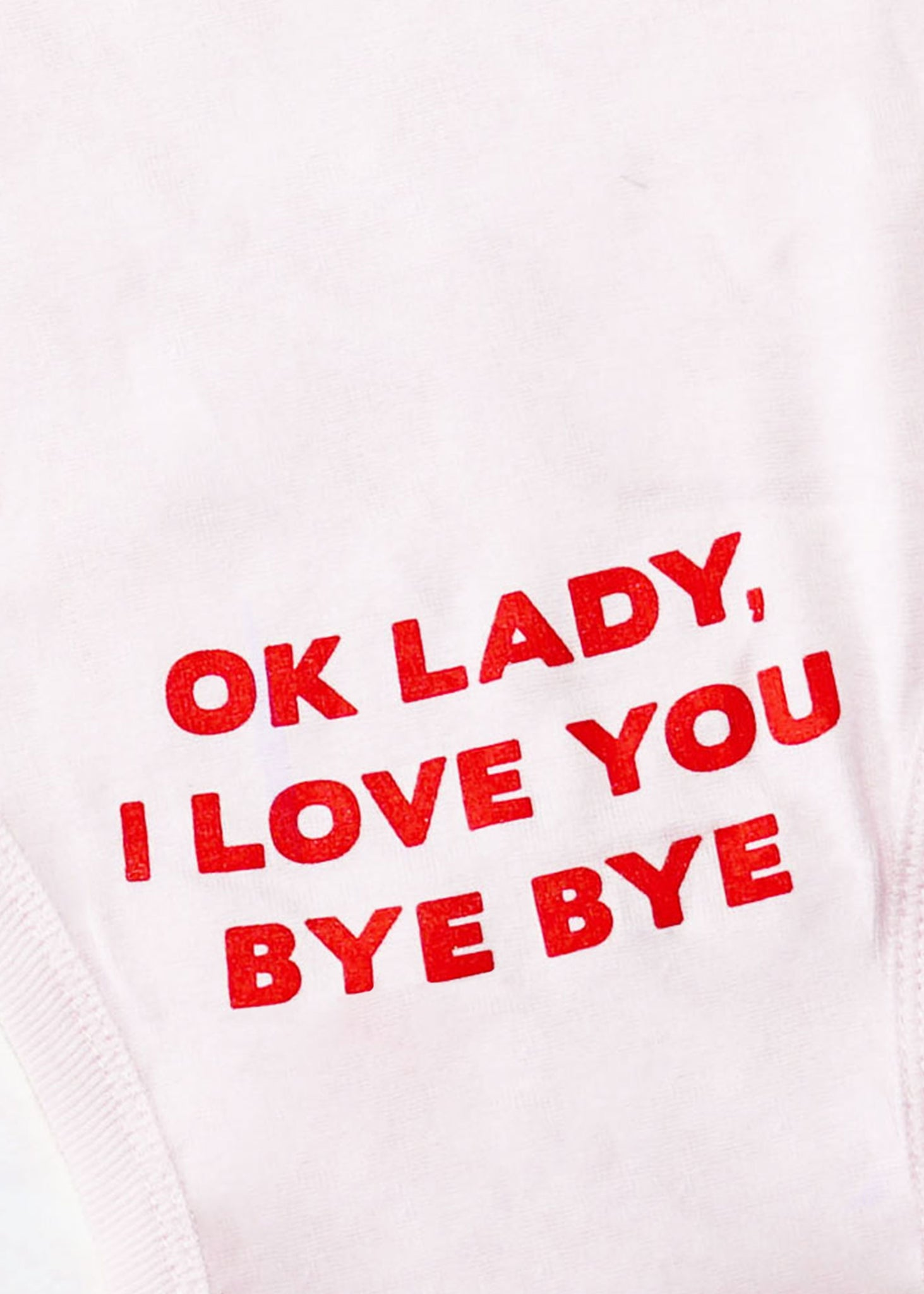 Ok Lady I Love You Bye Bye Onesie