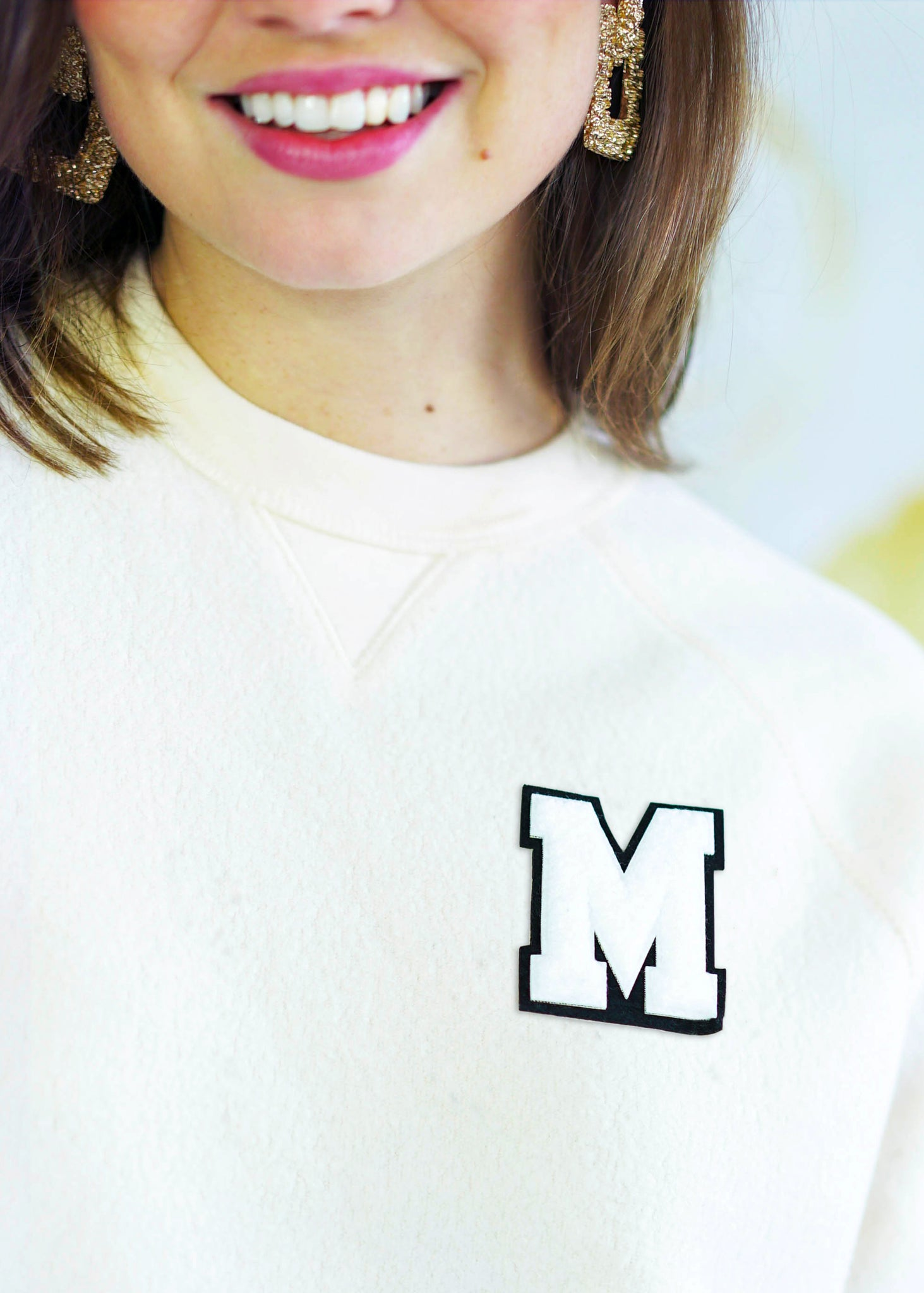 Custom Varsity Sweatshirt in Cream