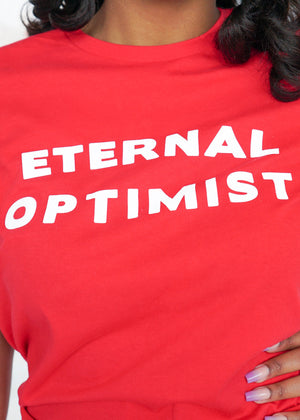 Eternal Optimist Red Tee