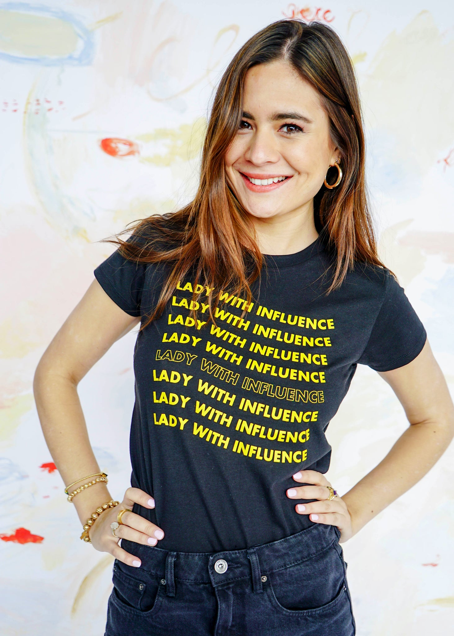 Lady With Influence Black Tee