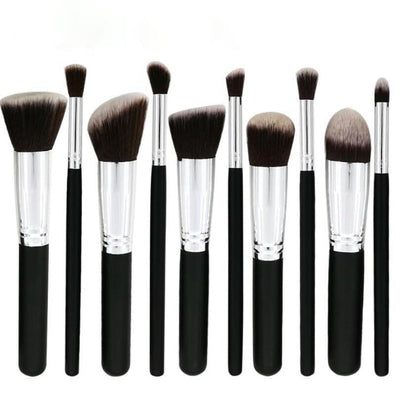 Glamwinks 10-Piece Premium Synthetic Makeup Brush Set
