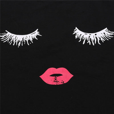 Lashes & Lips Casual Tee