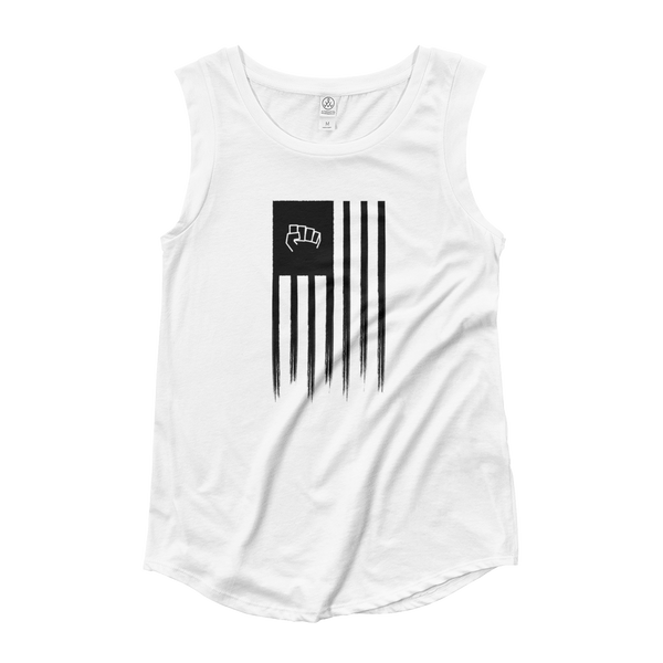 Black America Cap Sleeve