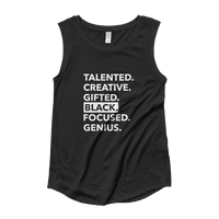 Black Talent Cap Sleeve