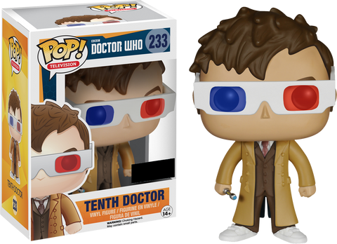 Doctor Who Funko Pop! Tenth Doctor (3D Glasses) #233
