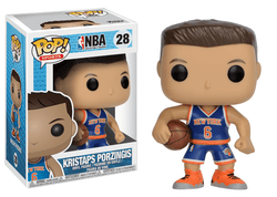 NBA Knicks Funko Pop! Kristaps Porzingis #28 (Blue Jersey)