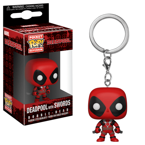 Deadpool Funko Pocket Pop! Keychain Deadpool with Swords