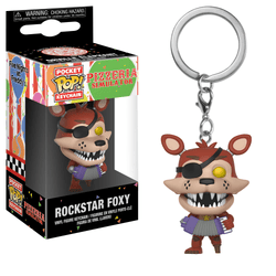 Five Nights at Freddy's Pizzeria Simulator Funko Pocket Pop! Keychain Rockstar Foxy