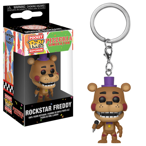 Five Nights at Freddy's Pizzeria Simulator Funko Pocket Pop! Keychain Rockstar Freddy