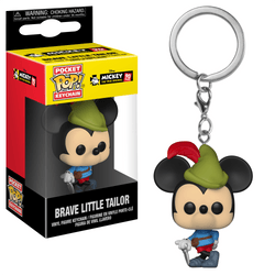 Mickey 90th Funko Pocket Pop! Keychain Brave Little Tailor