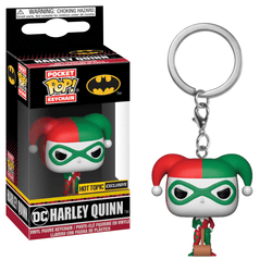 DC Super Heroes Pocket Pop! Keychain Harley Quinn (Holiday)