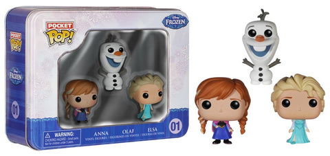 Frozen Funko Pocket Pop! Anna, Olaf, and Elsa #01