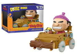 Hanna-Barbera Wacky Races Funko DORBZ Ridez Rufus Ruffcut & Sawtooth with Buzzwagon (Shared Sticker) #35