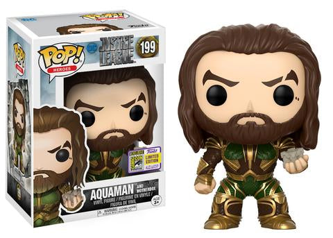 Justice League Funko Pop! Aquaman with Motherbox (Convention Sticker) #199