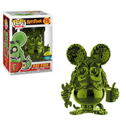 Rat Fink Funko Pop! Rat Fink (Green Chrome) (Shared Sticker) #15 (Pre-Order)