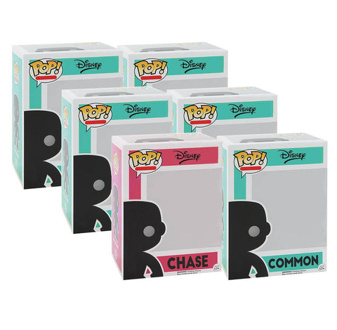 Disney CHASE and 5 Different Commons Funko Pop! Mystery Box