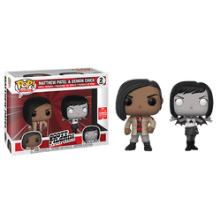 Scott Pilgrim Vs. the World Funko Pop! Matthew Patel  & Demon Chick 2-Pack (Shared Sticker)