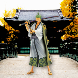 One Piece Banpresto Roronoa Zoro (DXF The Grandline Men Wanokuni Vol. 2) 7in Figure
