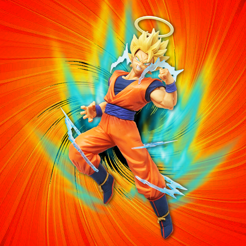Dragon Ball Z Banpresto Super Saiyan 2 Goku (Dokkan Battle Collab) 6in Figure